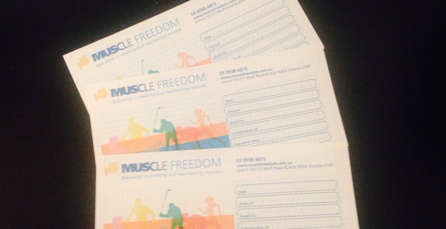 Muscle Freedom Vouchers